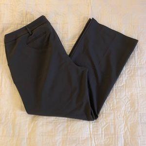 Petite wide / flare leg gray dress pants 16P
